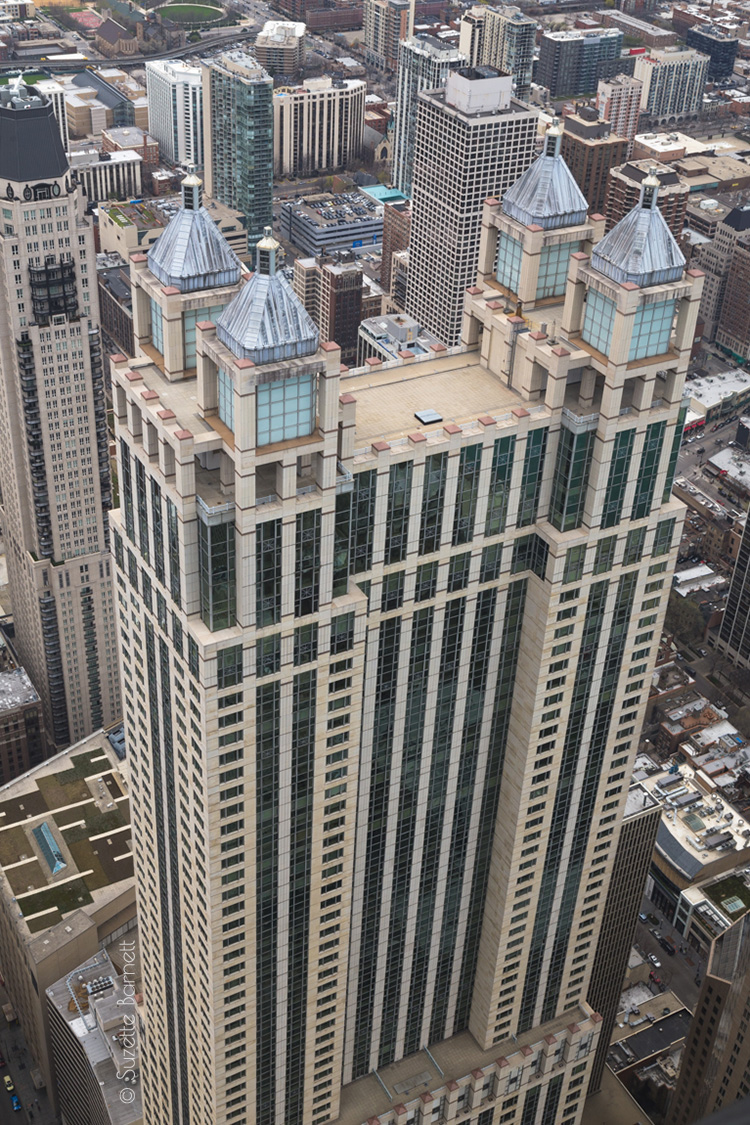 Chicago architecture from above