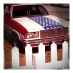 Patriotic American car