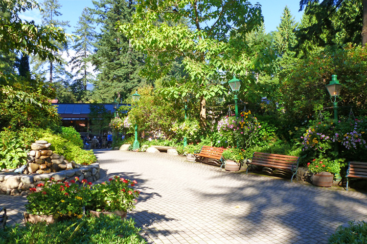 Capilano gardens at entrance