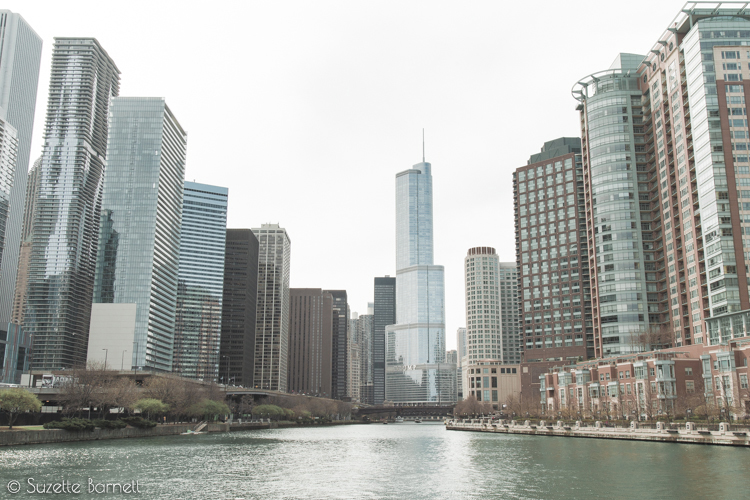 Chicago river skyscapers