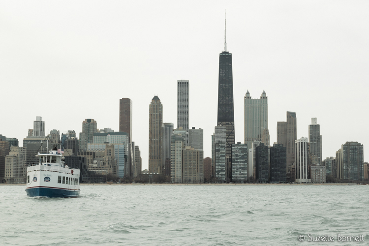 Chicago skyline on Lake Michigan