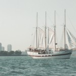 Clipper ship on Lake Michigan