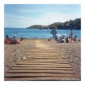 Collioure beach path in France