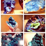 fifty shades of blue in rock mineral form