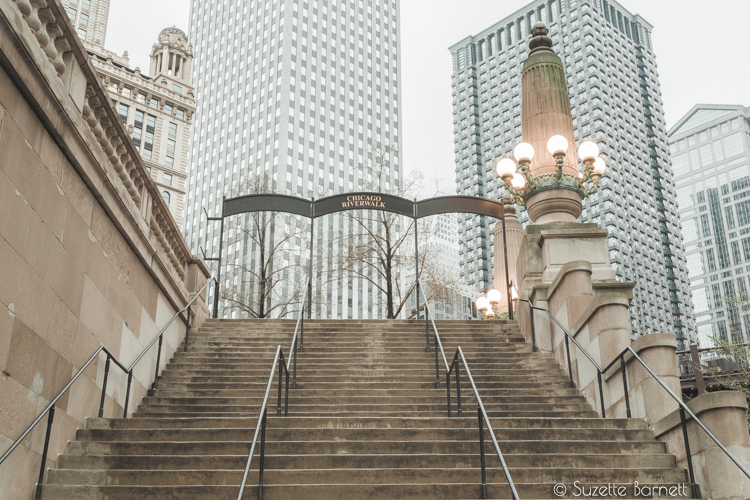 Stairs to the Chicago Riverwalk