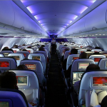 on board a Virgin America flight