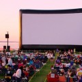 Outdoor movie film screen
