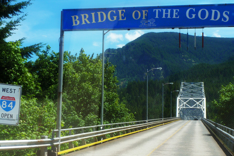 Bridge of the Gods on the Columbia River Gorge Highway.