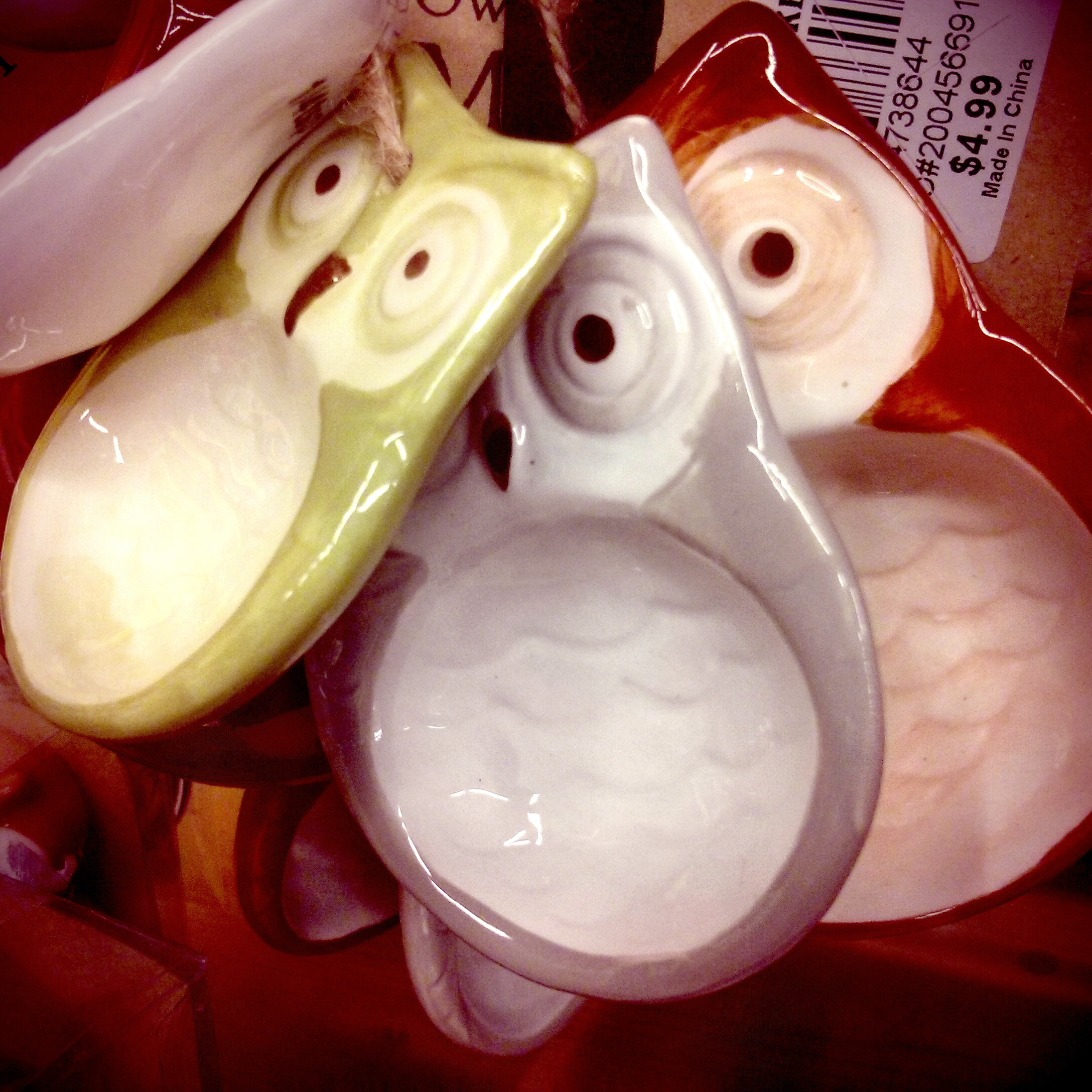 World Market Ceramic Owl Measuring spoons cooking