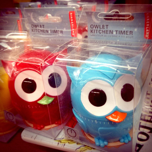 Owlet Kitchen Timers Set of 3 for $17.97 (online) or individually in-store for $5.99