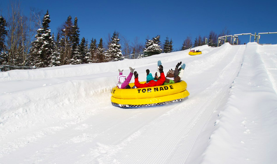 Tubing at North America's Biggest Winter Park.