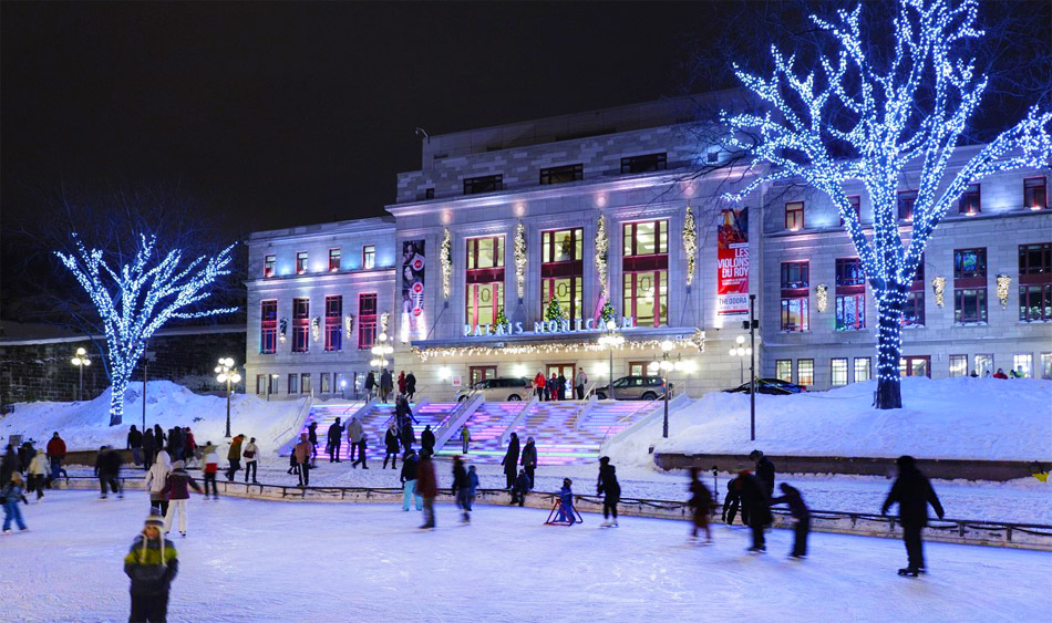 One of Several Attractions at the City Lights Festival. Photo from Office of Tourism of Quebec.
