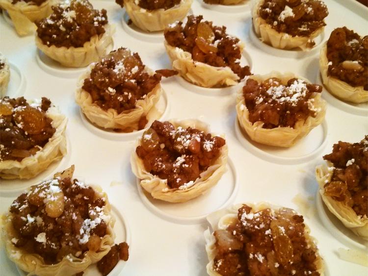 Moroccan bastilla filo tart shells recipe