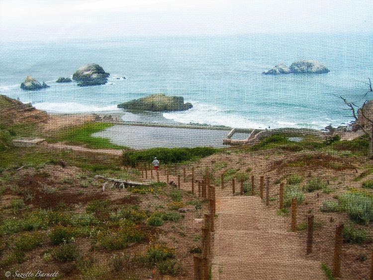 San Fran Sutro Baths Road Trip West Coast Shore Steps Artistic