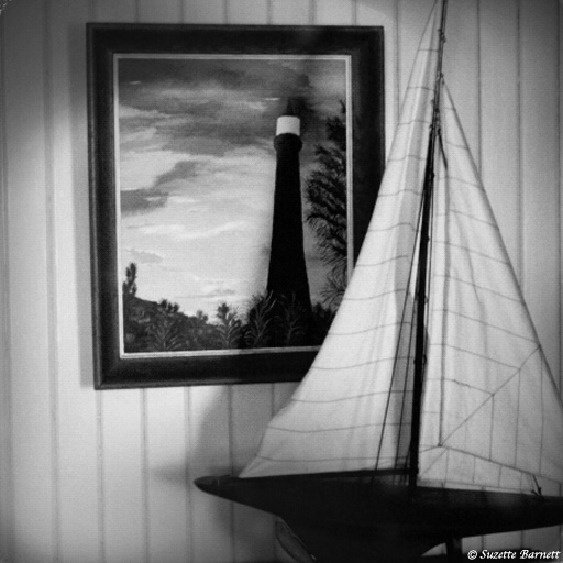 Tybee Lighthouse_Georgia_Sailboat in Cottage