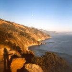 pacific coast big sur sunset shadows