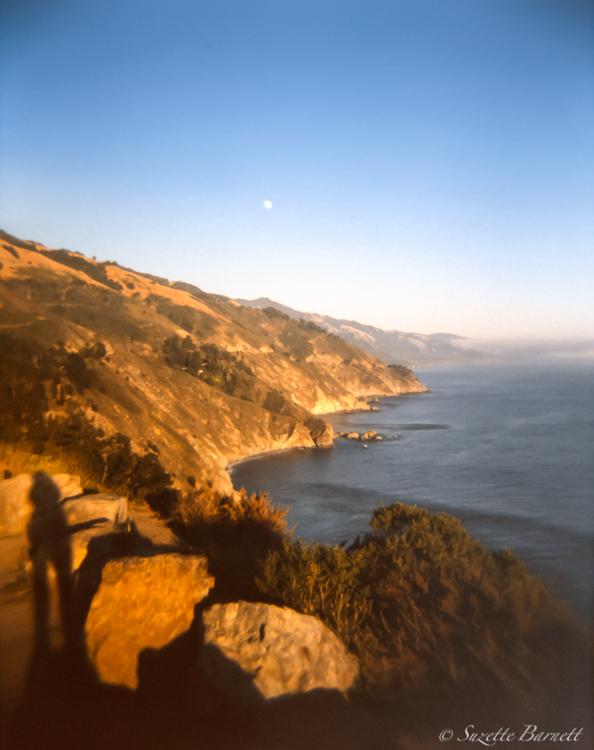 pacific coast big sur sunset shadows