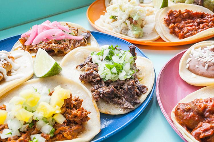 taco plates at la taqueria vancouver