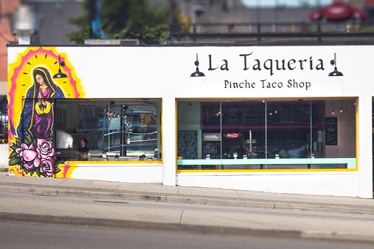 exterior front of LaTaqueria Vancouver