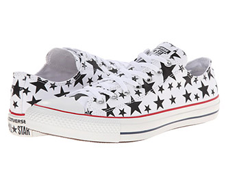 blue and white star spangled converse
