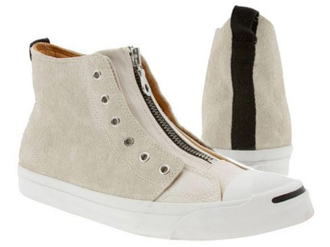 converse jack purcell_ivory leather zipper hightop