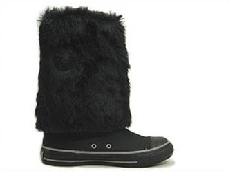 rare converse high gaiters furry boots