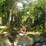 Suzette at manoa falls jungle hike
