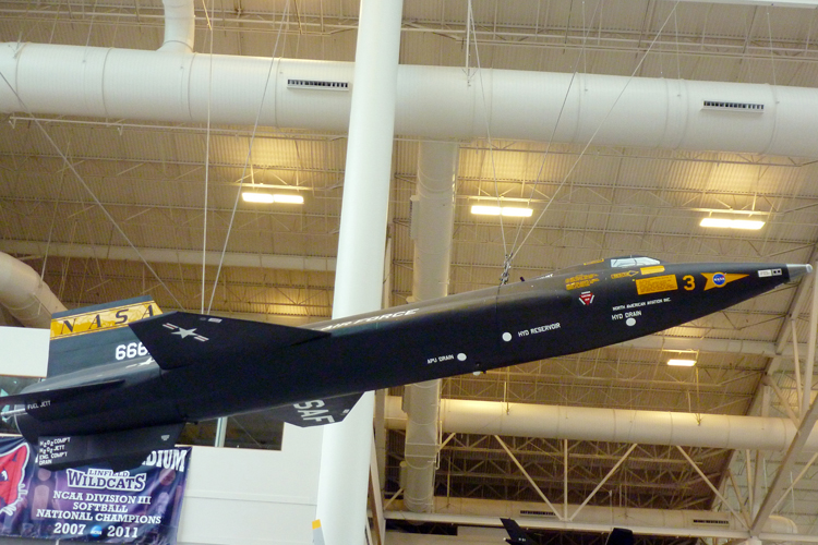 Nasa X-15 Rocketplane - it went mach 5 and touched the edge of space!