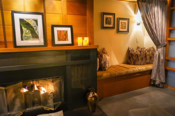 salish spa lounge fireplace