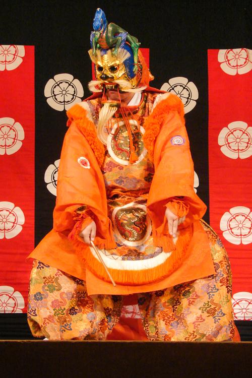 gagaku masked performer kyoto