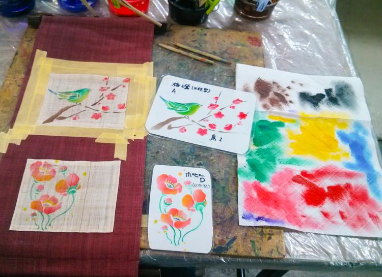 kyo yuzen painting class kyoto
