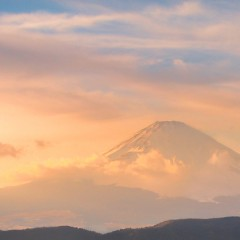 Mt Fuji at sunset