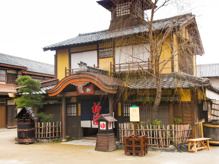 old traditional building on Toei film set