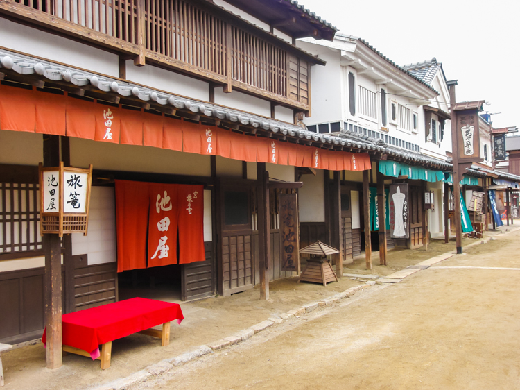 small town street on Kyoto studio park