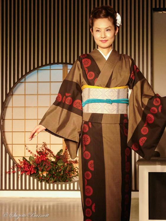 winter silk kimono