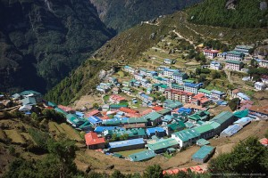 namche bazar Nepal (biggest town in the region)