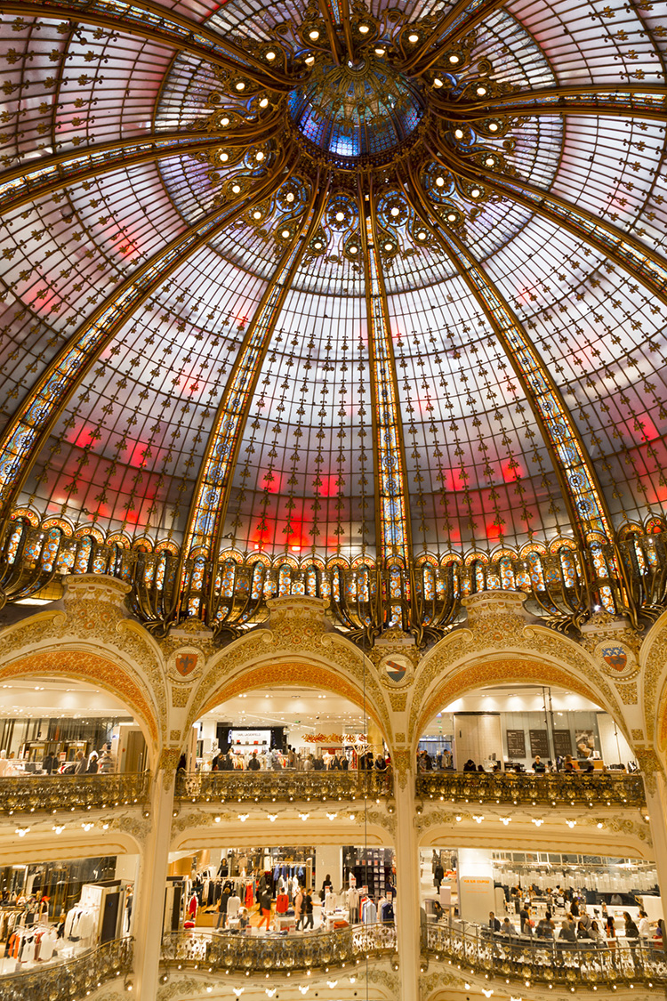 Glass dome at Galeries Lafayette Haussmann Paris