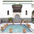 Paris Grand Mosque mosaic fountain