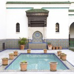 Paris Grand Mosque mosaic fountain