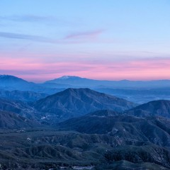 Lake Arrowhead_sunset over San Bernadino Mountains