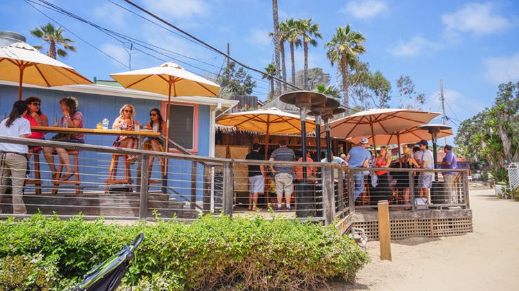 Patio at the Beachcomber Bar.