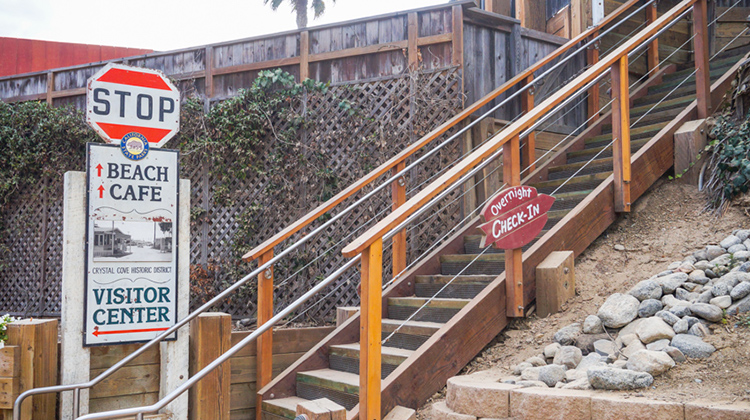 Check-in for the Crystal Cove Cottages.