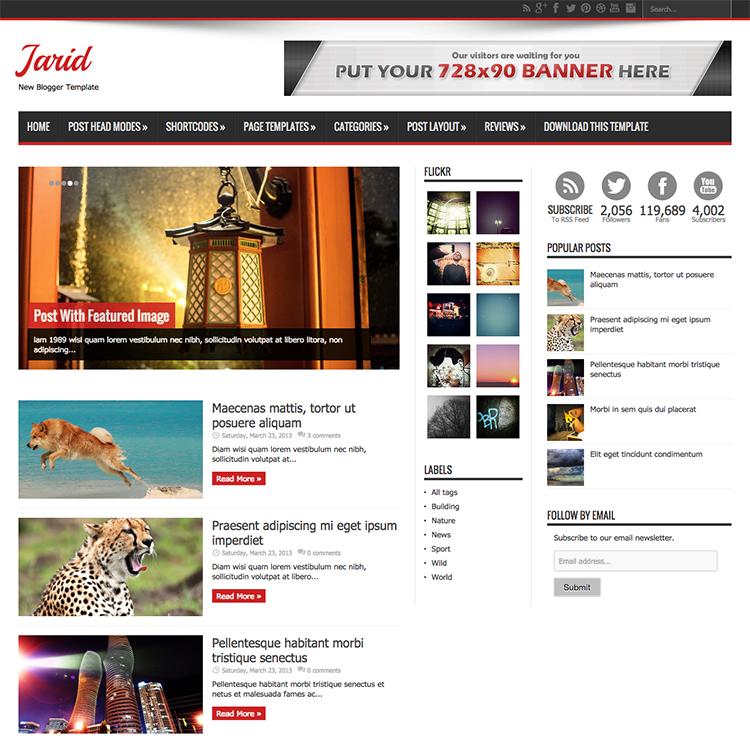 Jarid blogger template