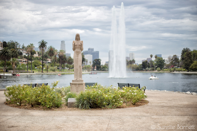 Lady of the Lake Echo Park statue