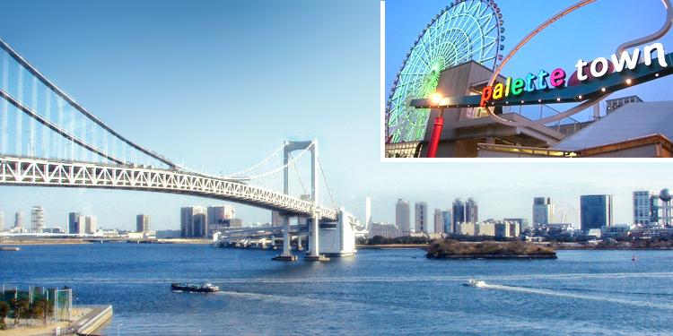 Tokyo Bay scenic train to Odaiba