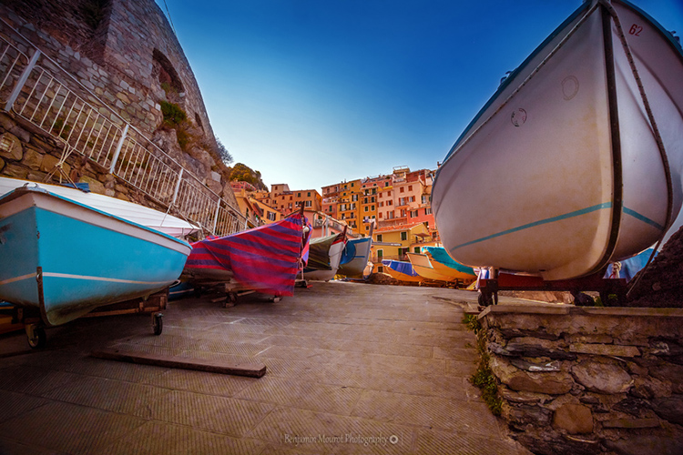 Boats at Manarola