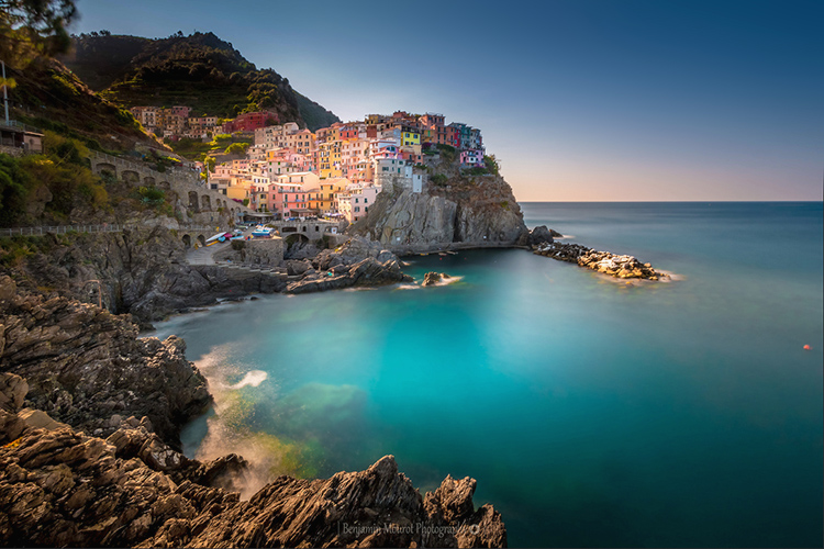 Manarola of Liguria Italy