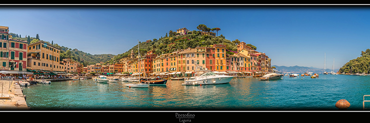 Portofino Panorama in Liguria Italy