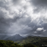 Kauai storm clouds over Hanalei valley