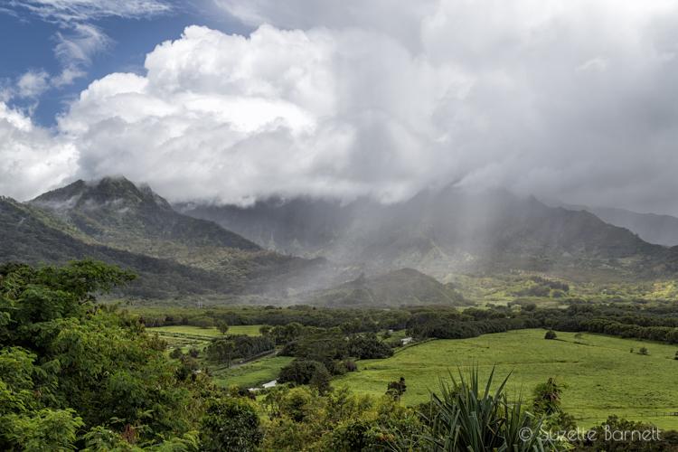 Hanalei valley Kauai rain
